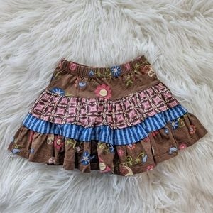 Jelly the Pug Palace Blue Stripe Skirt Daisies 4
